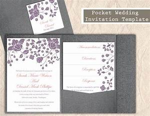 pocket wedding invitation template download printable With boho pocket wedding invitations
