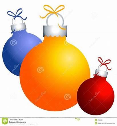 Christmas Clip Ornaments Decorations Clipart Festive Illustration