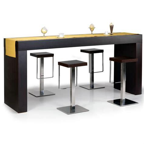 table haute bar cuisine table haute quot hour quot wengé achat vente table à manger table haute soldes d été cdiscount