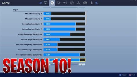 fortnite  controller settings  season  xbox