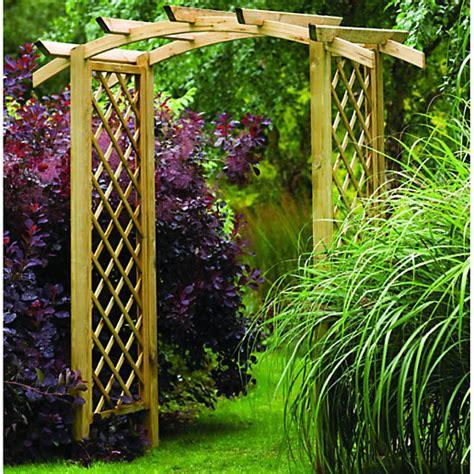 forest garden elgar curved wooden trellis garden arch
