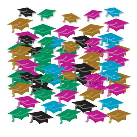 graduation table confetti party table decorations multi