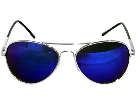 blue glasses g g 3pk 50 mm color mirror aviator sunglasses blue lens