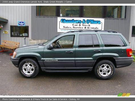 jeep cherokee green 2000 2000 jeep grand cherokee laredo 4x4 in shale green