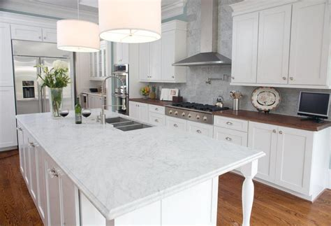 white kitchen island granite top 10 pictures of gorgeous marble kitchens 1820