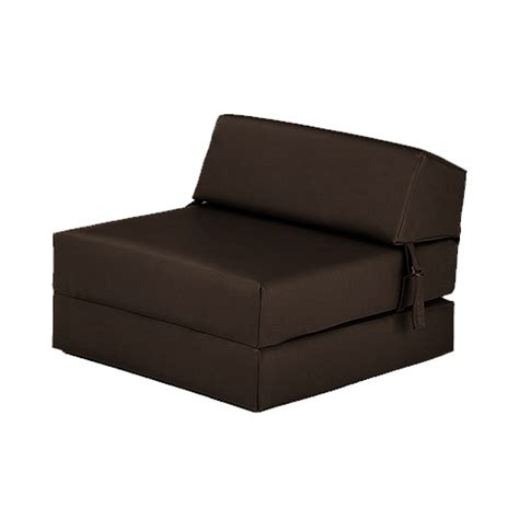 single chair bed z faux leather guest fold out futon sofa