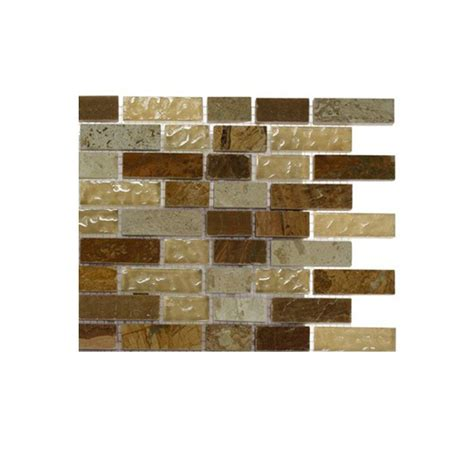 splashback tile desert blend 1 2 in x 2 in glass and