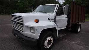 1993 Ford F700 Diesel Flatbed Stakebody Dump Truck Vin