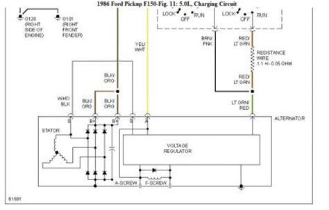 1986 Ford Alternator Wiring by 1986 Ford F150 Alternator Problems The Alternator In The