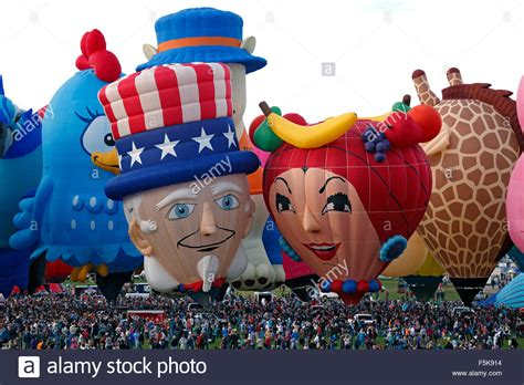 Special Shape Hot Air Balloons And Crowd, Special Shapes