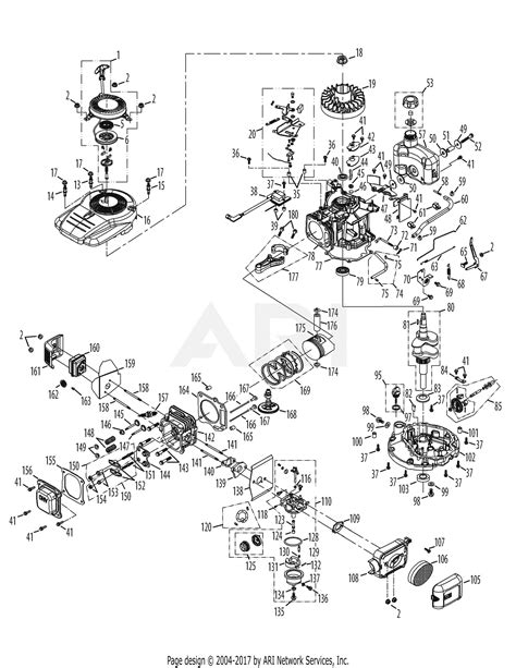 Mtd Pbb Engine Parts Diagram For Assembly
