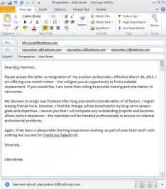perfect 10 sample email resignation letter without notice period
