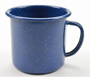 Enamelware Tin Cup - Blue With White Specks