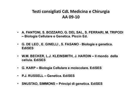 dispense biologia molecolare staminali differenziamento cellulare dispense