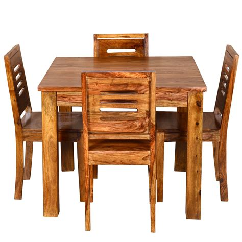 ringabell square  seater solid wood dining table
