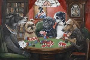 Dogs Playing Poker Prints, Dogs Playing Cards, Vintage Dog Art