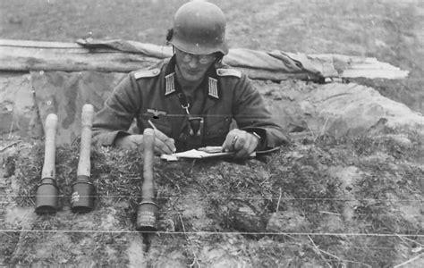 Wwii B&w Photo German Soldier With Hand Grenades Ww2 World