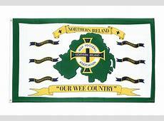 Buy Northern Ireland Football white Flag 3x5 ft Royal