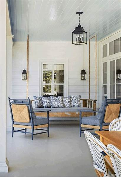 Porch Swing Swings Summer Into Every Colonial