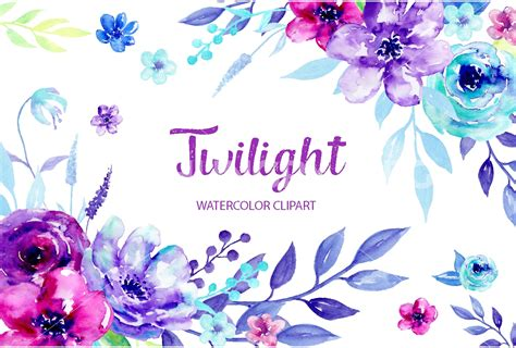 free watercolor clipart watercolor clipart twilight by cornercroft thehungryjpeg