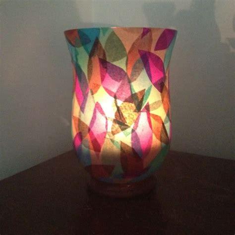 mod podge  tissue paper   glass vase