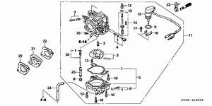 Motor Parts  Honda Outboard Motor Parts Diagram