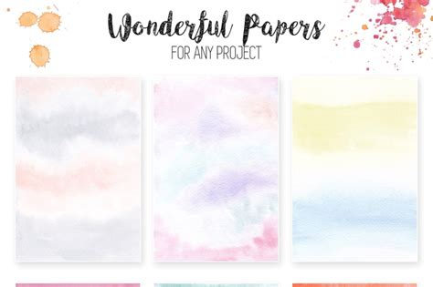 Watercolor Textures Light&Bright By switzershop