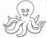 Octopus Coloring Pages Preschool Colouring Painting Worksheets Kindergarten Printable Funny Sheet Sheets Template Sea Ocean Crab Crafts Animals sketch template