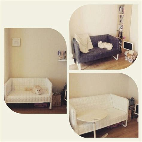 knopparp loveseat ikea knopparp with the cover turned inside out the