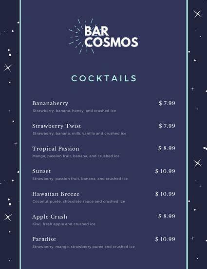 customize  bar menu templates  canva