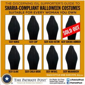 humor sharia compliant costumes the patriot post
