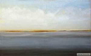 Tableau peinture contemporaine paysage minimaliste for Couleur gris bleu peinture 4 tableau peinture contemporaine paysage minimaliste