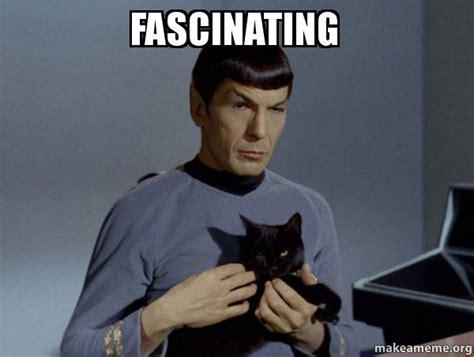 Spock Memes - fascinating spock and cat meme make a meme