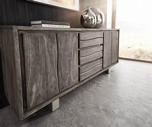 Live Edge Möbel : sideboard live edge 172 cm akazie platin 3 sch be 4 t ren m bel kommoden schr nke sideboards ~ Sanjose-hotels-ca.com Haus und Dekorationen