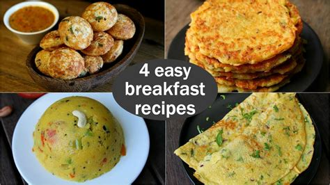 4 easy veg breakfast recipes quick healthy breakfast