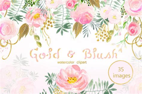 pink  gold blush clipart   cliparts