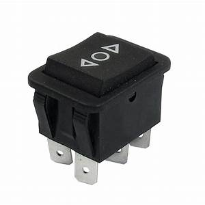 Momentary 6 Pin Dpdt Black Button On  Off  On Rocker Switch Ac 250v  10a 125v  15a
