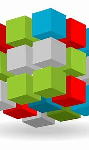 Vector for free use: Abstract 3d cubes