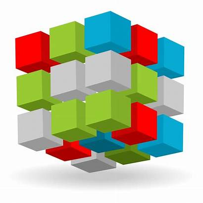 3d Cubes Abstract Cube Vector Pattern Background