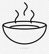 Coloring Clipart Soup Bowl Webstockreview Pinclipart sketch template