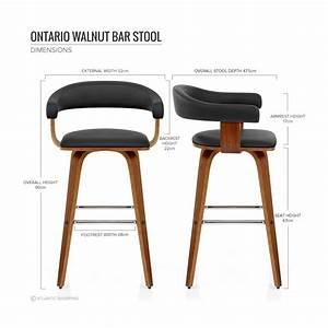 Tabouret De Bar Cuir : chaise de bar faux cuir bois ontario cuisine ~ Dailycaller-alerts.com Idées de Décoration