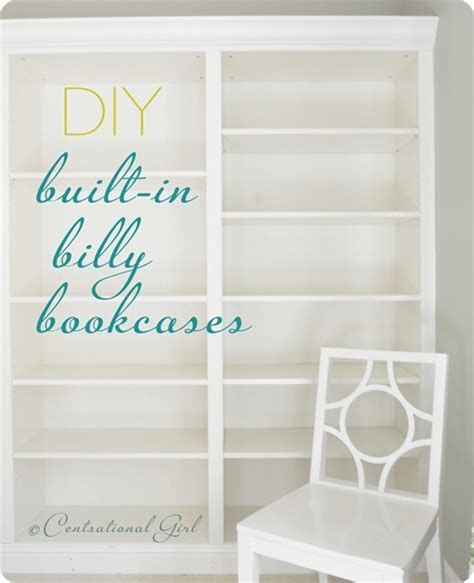 bookcases that look like built ins from billys to built ins centsational