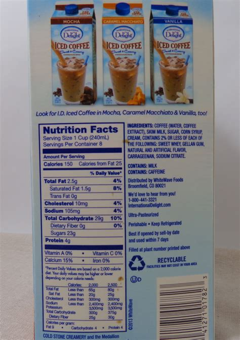 International delight creamers should be used before the expiration date stamped on the container and within two weeks of opening. international delight creamer ingredients