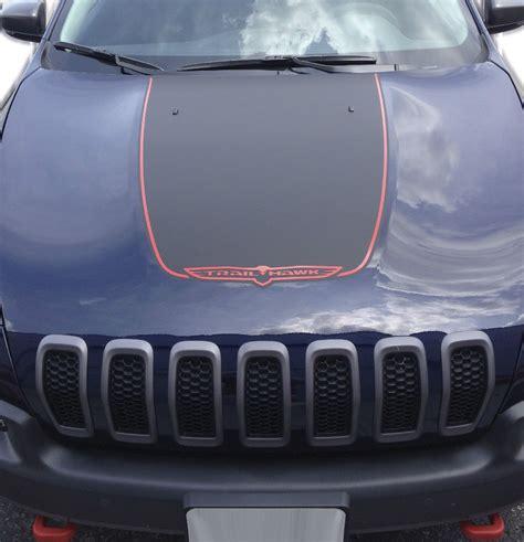 jeep grand cherokee stickers 2014 2017 jeep cherokee trailhawk black satin vinyl hood