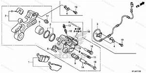 Honda Motorcycle 2012 Oem Parts Diagram For Rear Brake