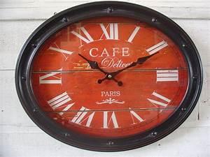 Horloge Murale Rouge : les 19 meilleures images du tableau les horloges murales sur pinterest horloge murale bois ~ Teatrodelosmanantiales.com Idées de Décoration
