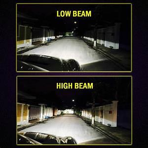 Nighteye 80w 12000lm H4  Hb2  9003 Led Hi  Low Phare Kit Ampoule Lampe Blanc
