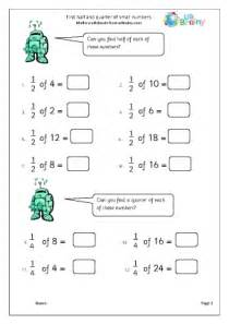 fraction of a number worksheet find half and quarter of small numbers fractions maths worksheets for year 2 age 6 7