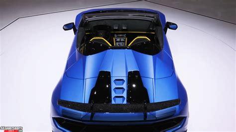 4 Blue Lamborghini Huracan Performante Spyder At Geneva