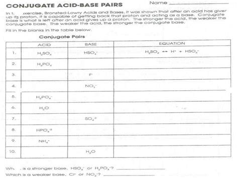 Acids And Bases Worksheet Answers Homeschooldressagecom